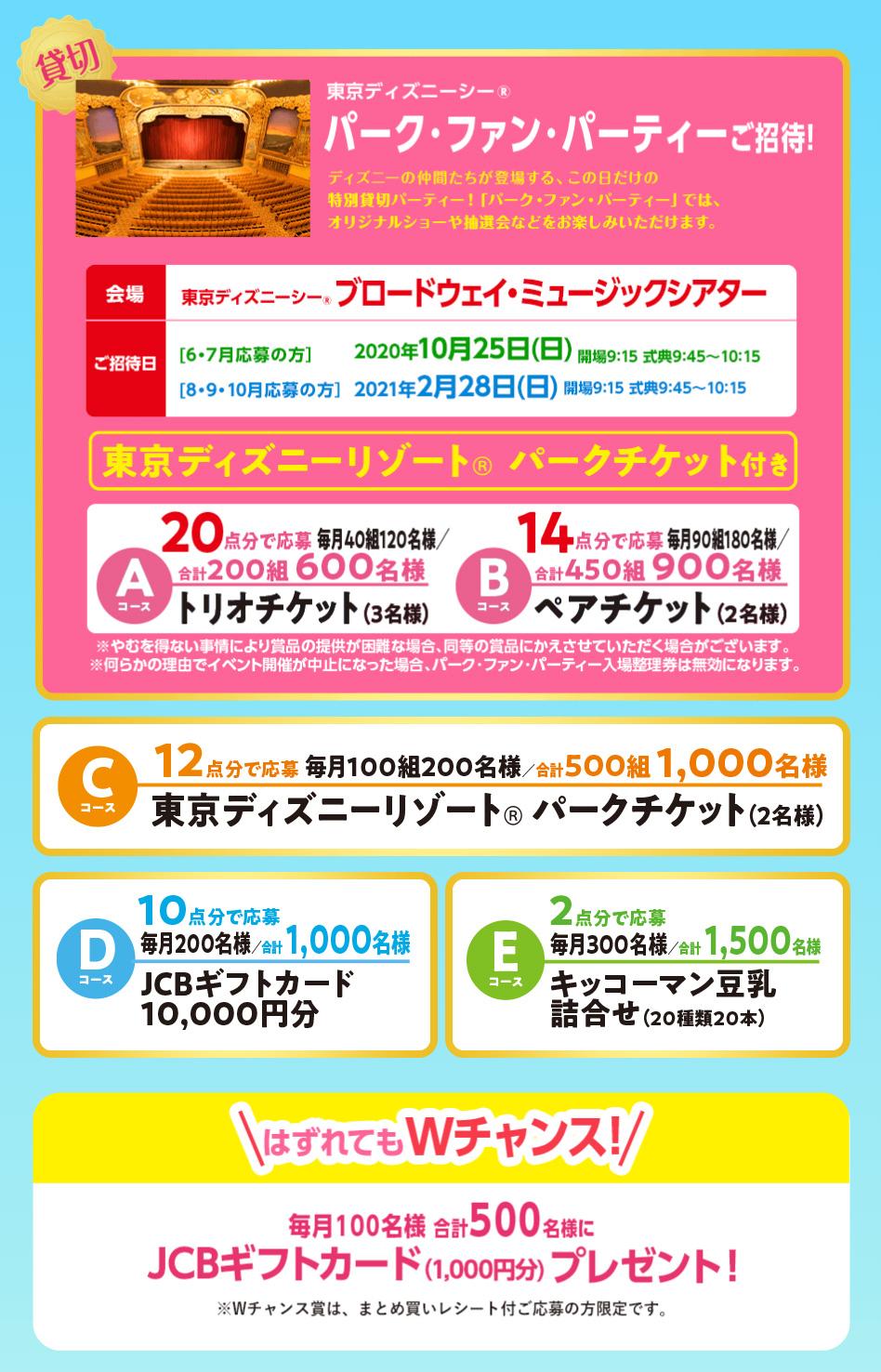 豆乳 ディズニー懸賞キャンペーン2020夏秋 プレゼント懸賞品