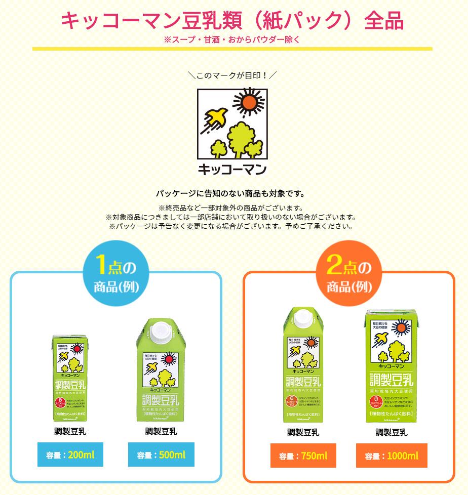 豆乳 ディズニー懸賞キャンペーン2020夏秋 対象商品