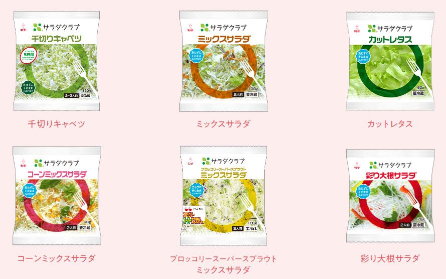 キューピー サラダクラブ懸賞キャンペーン2020 対象商品