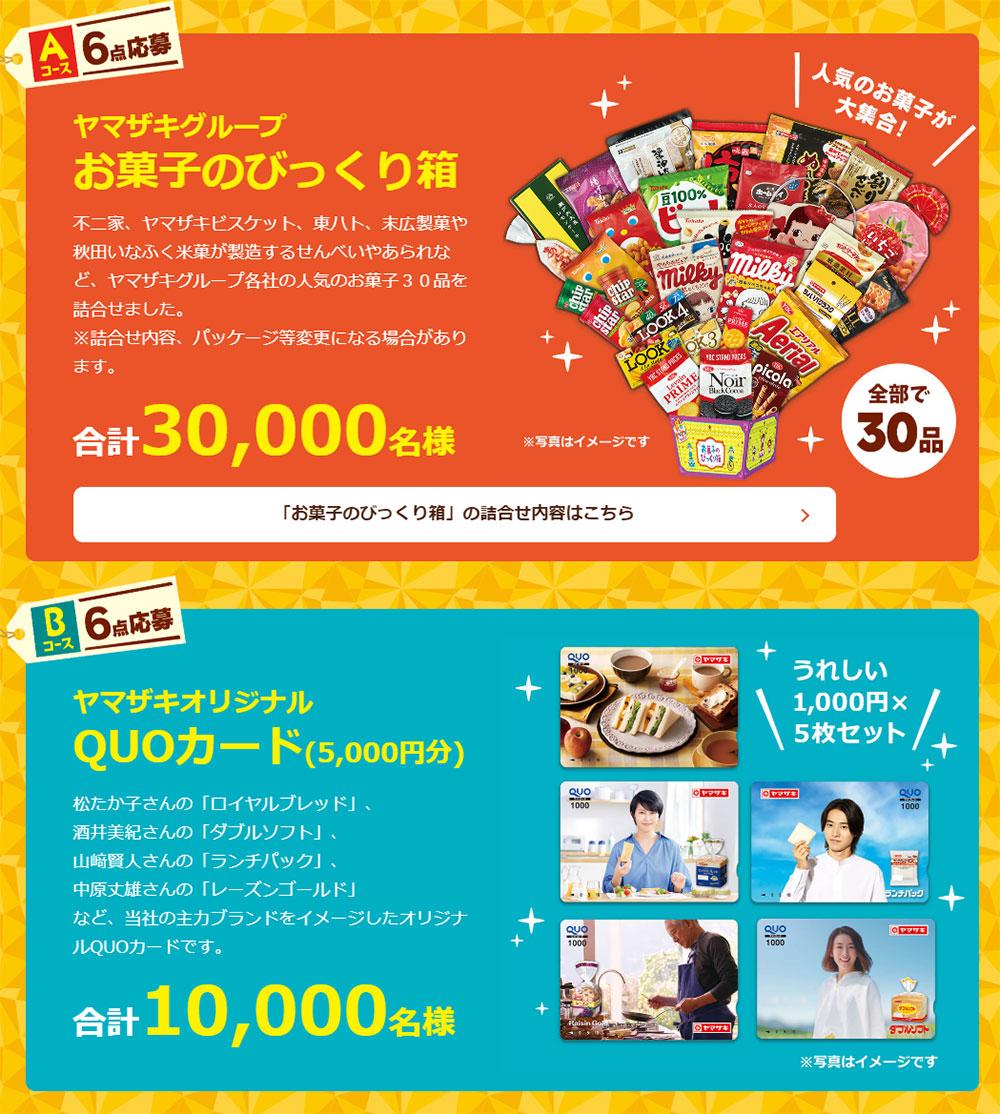ヤマザキ秋のパン祭り 懸賞キャンペーン2020秋 プレゼント懸賞品