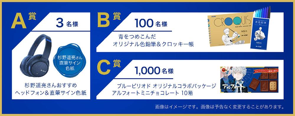 アルフォート ブルーピリオド 杉野遥亮 懸賞キャンペーン2020 プレゼント懸賞品