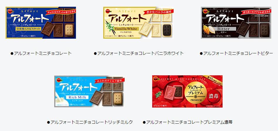 アルフォート YOASOBI 懸賞キャンペーン2021 対象商品