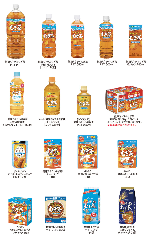 健康ミネラルむぎ茶 懸賞キャンペーン2020秋 対象商品