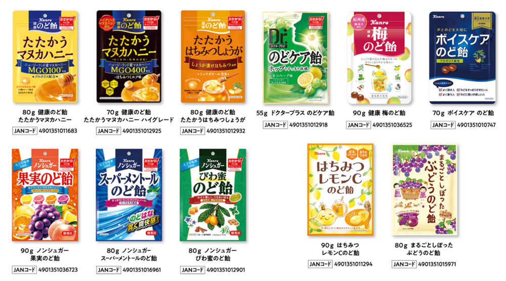 カンロ飴 のど飴 マヌカハニー 懸賞キャンペーン2021 対象商品