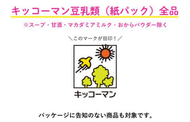 キッコーマン豆乳 懸賞キャンペーン2021春 対象商品
