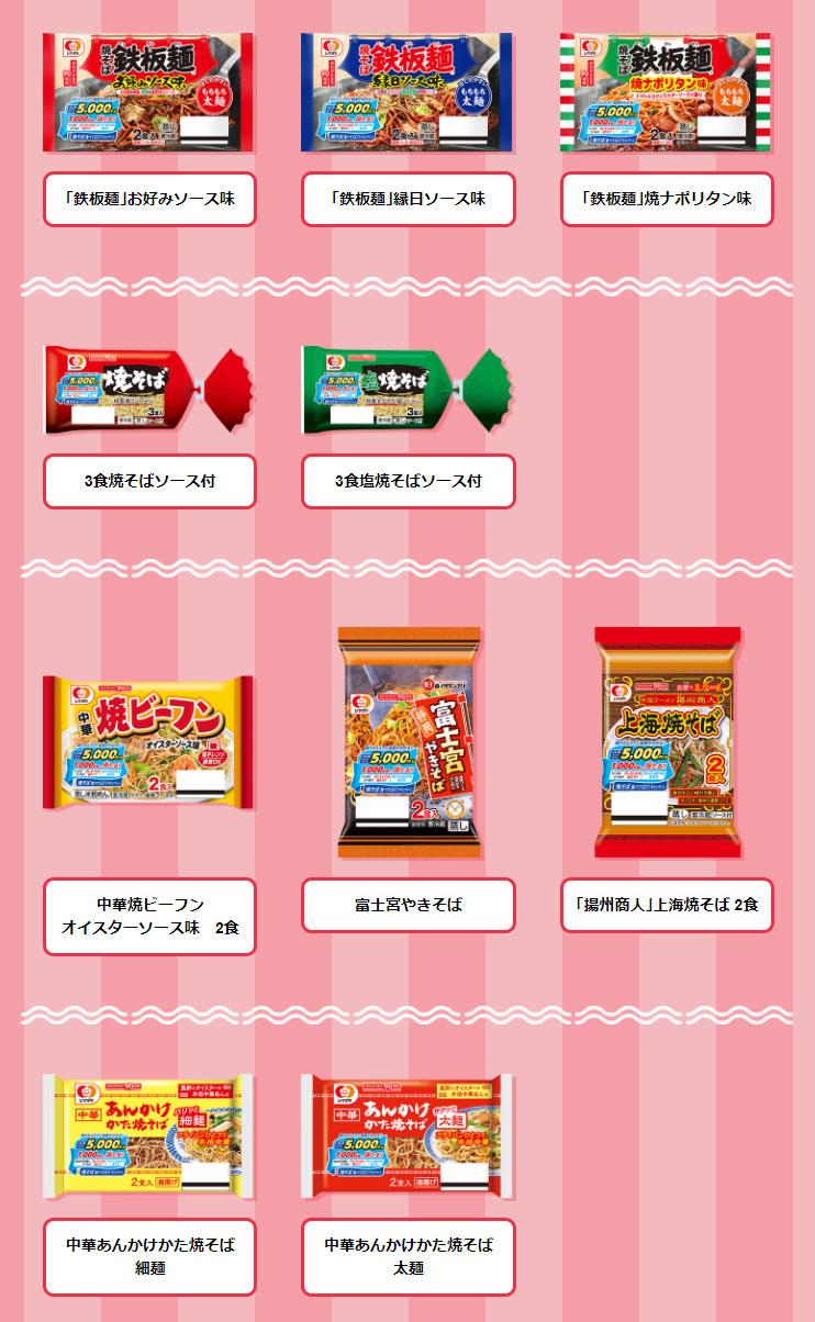 シマダヤ焼そば 懸賞キャンペーン2021 対象商品