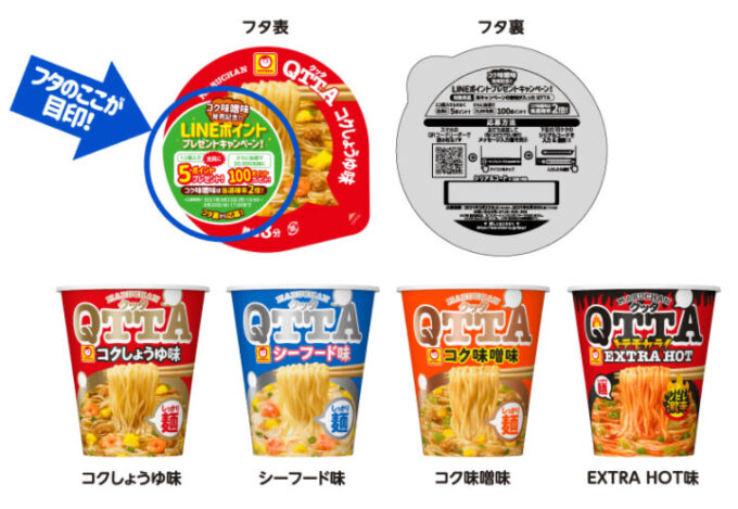 QTTA クッタ LINE懸賞キャンペーン2021春