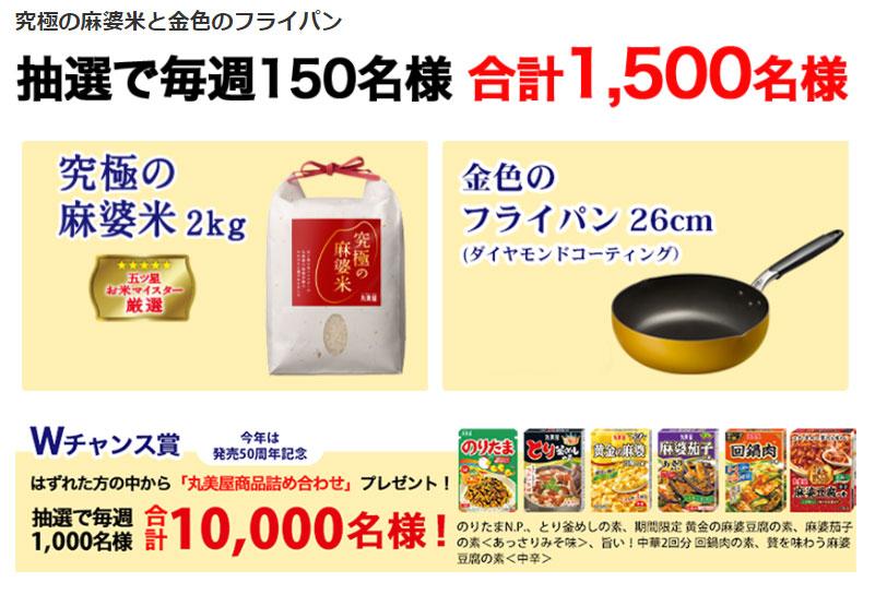 丸美屋 麻婆豆腐 懸賞キャンペーン2021夏 プレゼント懸賞品