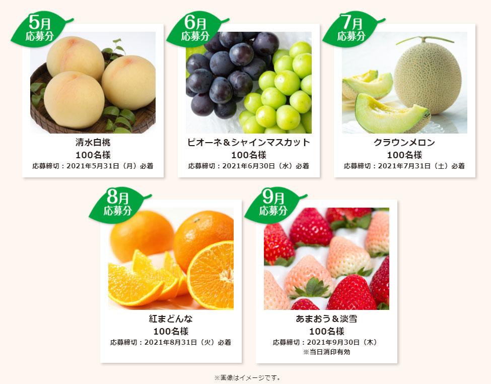 明治 果汁グミ 懸賞キャンペーン2021 プレゼント懸賞品