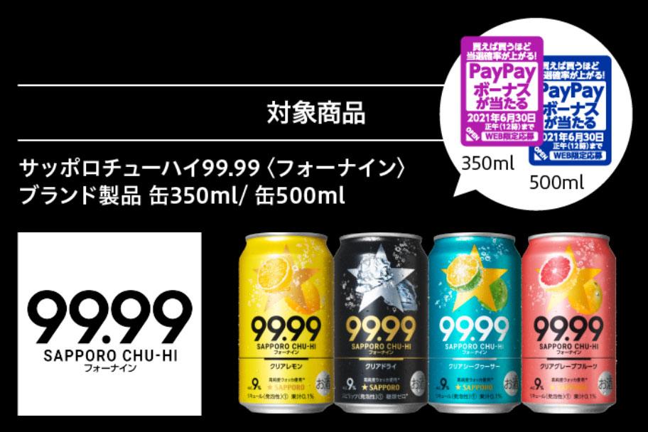 フォーナイン 99.99 懸賞キャンペーン2021 対象商品