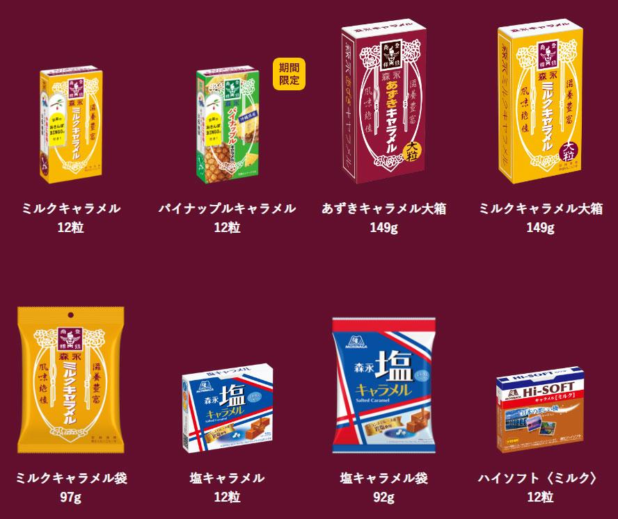 森永キャラメル 純烈 懸賞キャンペーン2021 対象商品