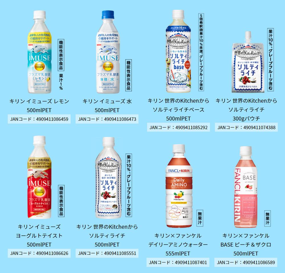 キリンiMUSE ソルティライチ 懸賞キャンペーン2021夏 対象商品