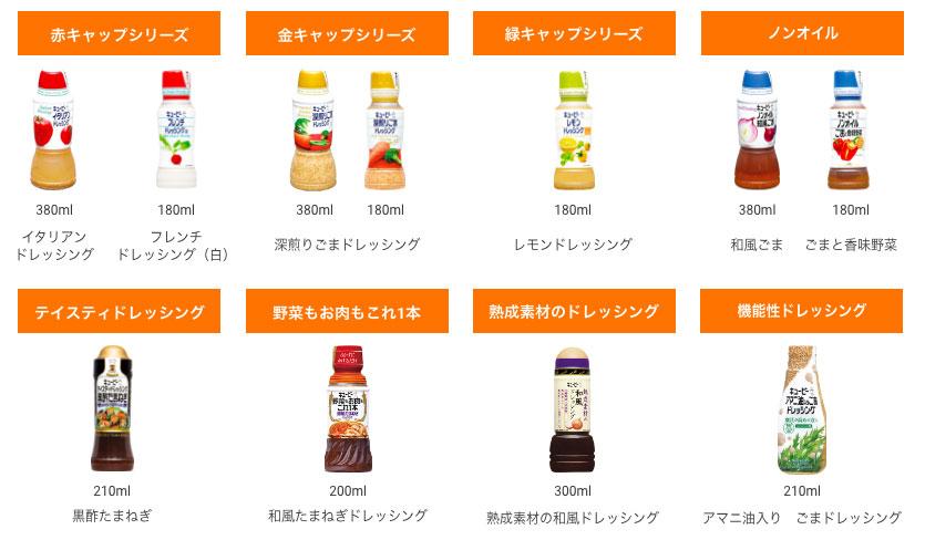 キューピードレッシング 懸賞キャンペーン2021夏 対象商品