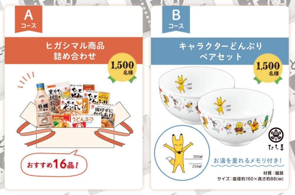 ヒガシマル醤油 懸賞キャンペーン2021 プレゼント懸賞品