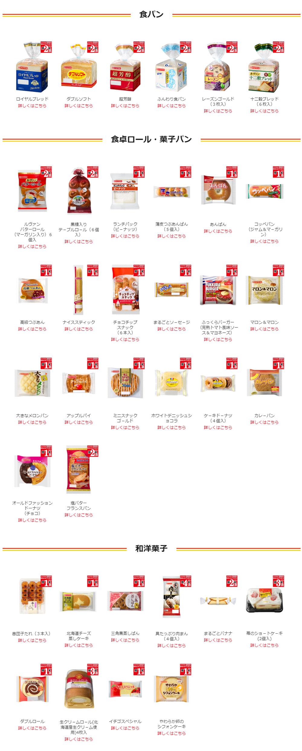 ヤマザキパン 懸賞キャンペーン2021秋  対象商品