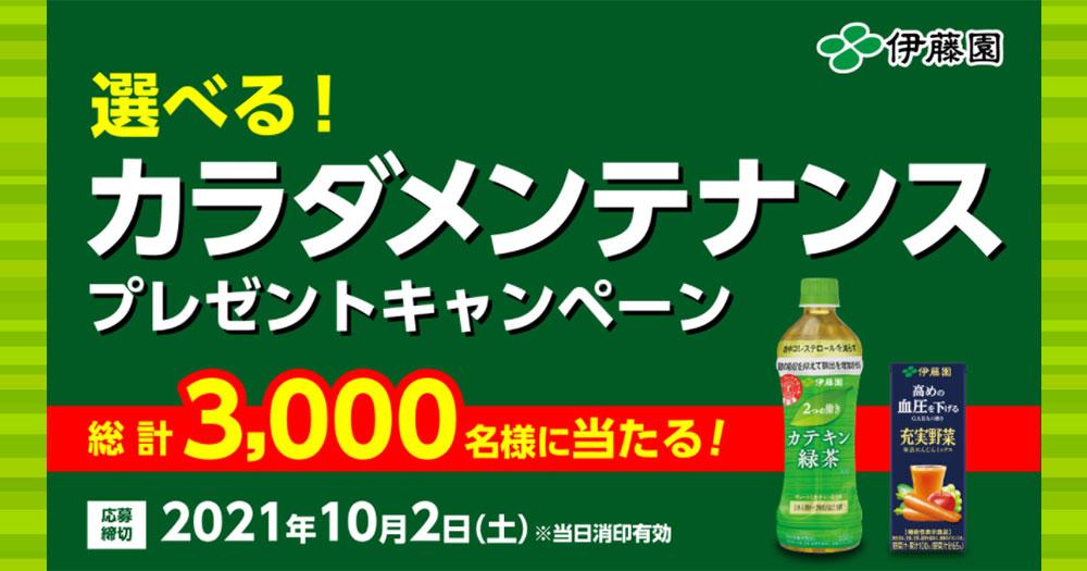伊藤園 お~いお茶 濃い茶 懸賞キャンペーン2021秋