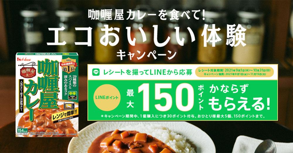 ハウス 咖喱屋カレー 絶対もらえる懸賞キャンペーン2021秋