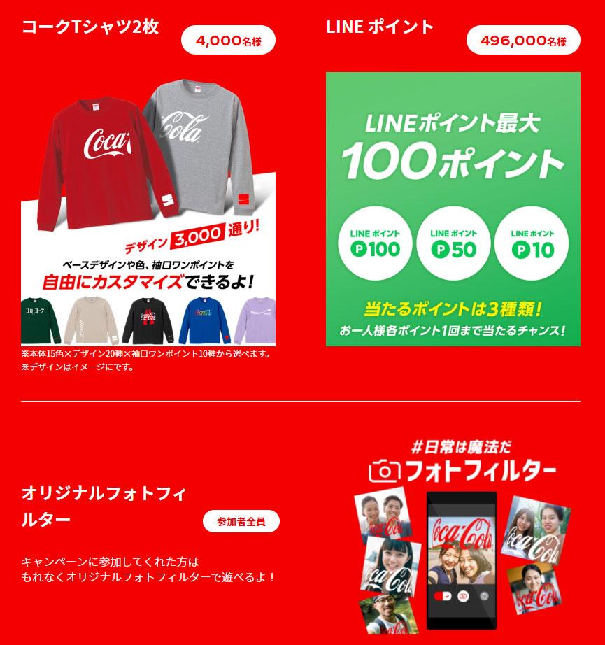 コカ・コーラ コークTシャツ懸賞キャンペーン2021 プレゼント懸賞品