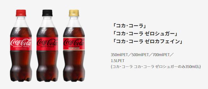 コカ・コーラ コークTシャツ懸賞キャンペーン2021 対象商品