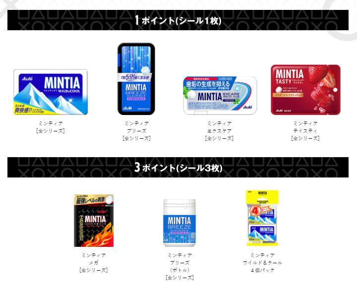 ミンティア MINTIA PS5 懸賞キャンペーン2021 対象商品