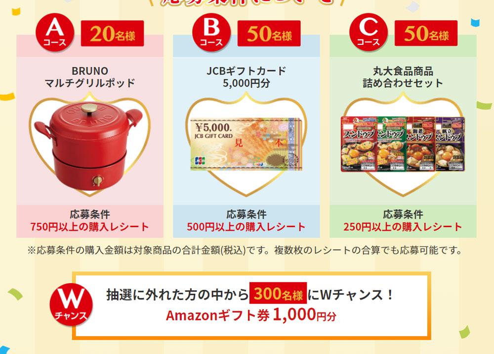丸大食品 スンドゥブ懸賞キャンペーン2021秋 プレゼント懸賞品