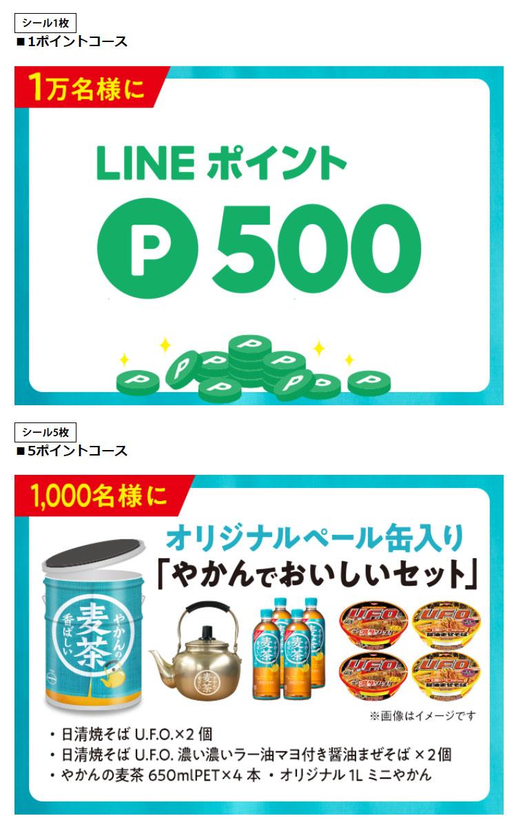 やかんの麦茶 懸賞キャンペーン2021秋 プレゼント懸賞品